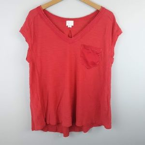 Postmark Pocket T-shirt Loose Fit Red Large